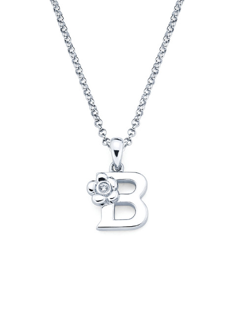 Initial Pendant Necklace - Letter B