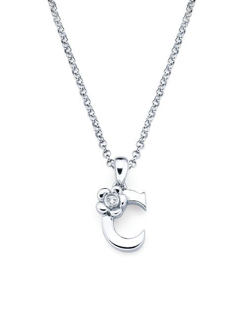 Initial Pendant Necklace - Letter C