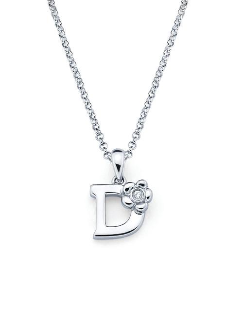 Initial Pendant Necklace - Letter D