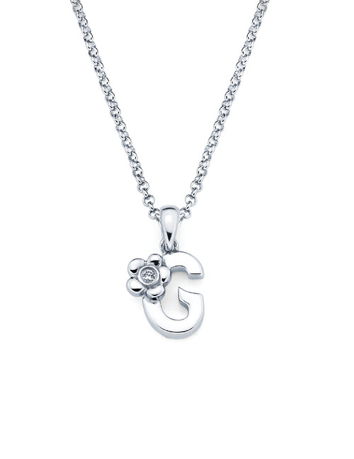 Initial Pendant Necklace - Letter G