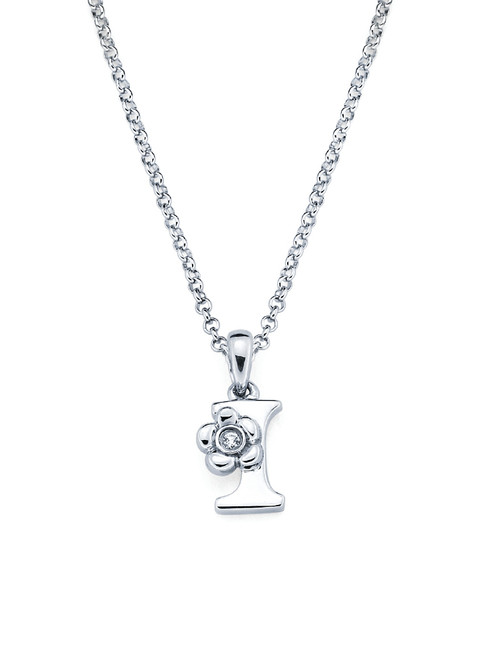 Initial Pendant Necklace - Letter I