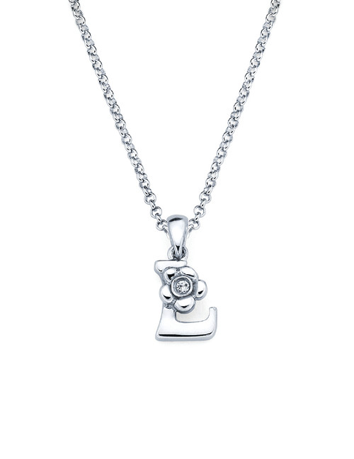 Initial Pendant Necklace - Letter L