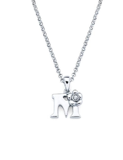 Initial Pendant Necklace - Letter M