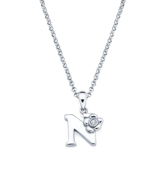 Initial Pendant Necklace - Letter N
