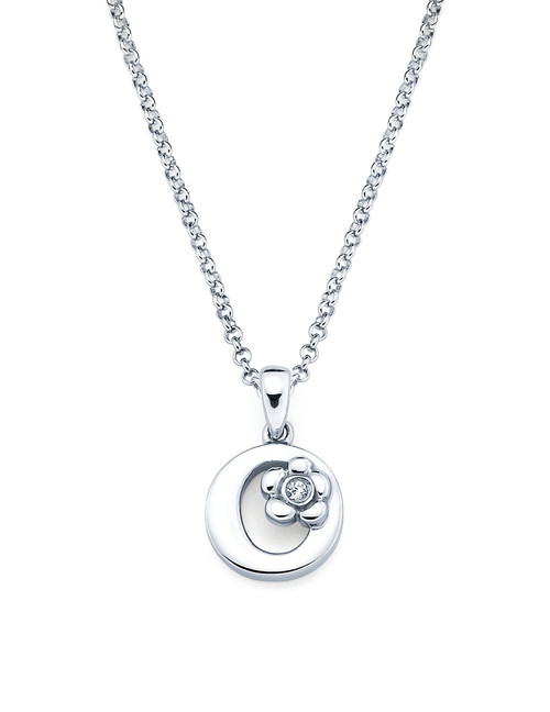 Initial Pendant Necklace - Letter O