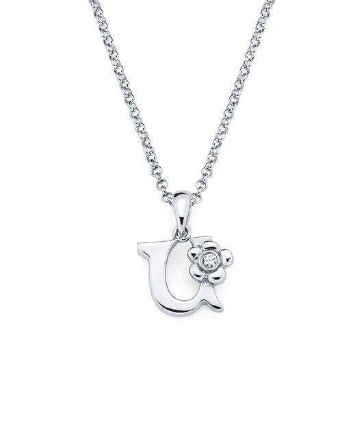 Initial Pendant Necklace - Letter U