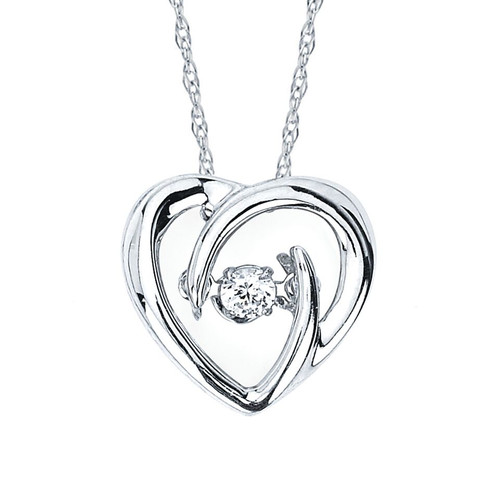 .05 Ct. Diamond Heart Pendant Necklace