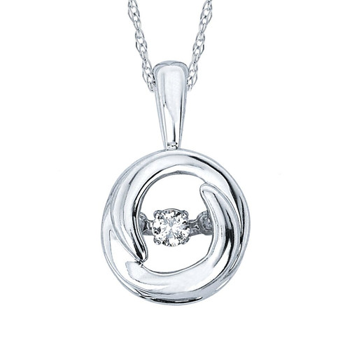 .05 ct. Diamond Circle Pendant Necklace