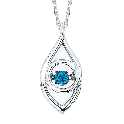 Iris Pendant in Sterling Silver with .07 Ct. Diamond