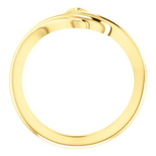 14K Yellow Freeform Bypass Ring