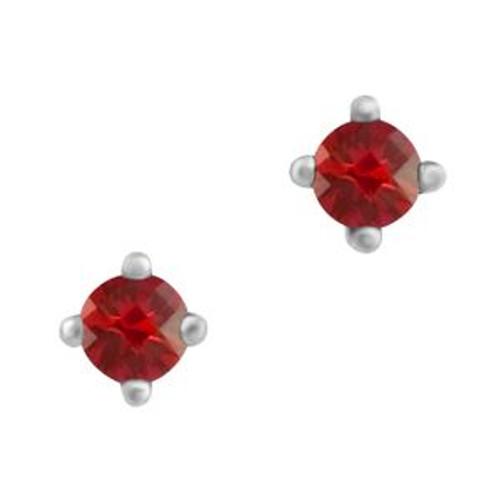 Sterling Silver 3.25mm (CZ) Birthstone Stud Earrings
