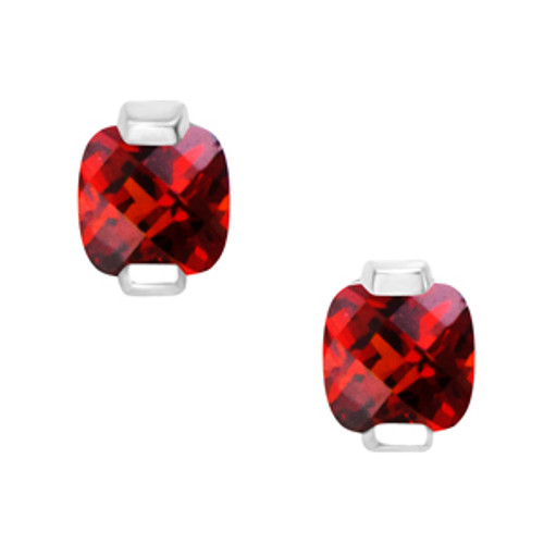Sterling Silver 4mm (CZ) Birthstone Stud Earrings