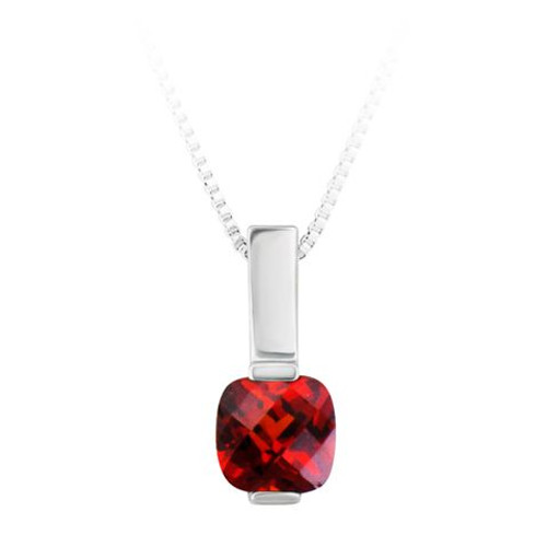 Sterling Silver 6mm (CZ) Birthstone Pendant