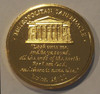 Gold Spurgeon coin - back