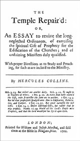 Hercules Collins (ca.1647-1702) is the 14th essay in British Particular Baptists, Volume 1 Revised
