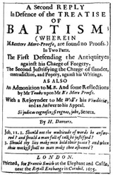 Henry Danvers (ca.1619-1687/88) is the 9th essay in British Particular Baptists, Volume 1 Revised