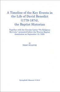 Timeline of David Benedict