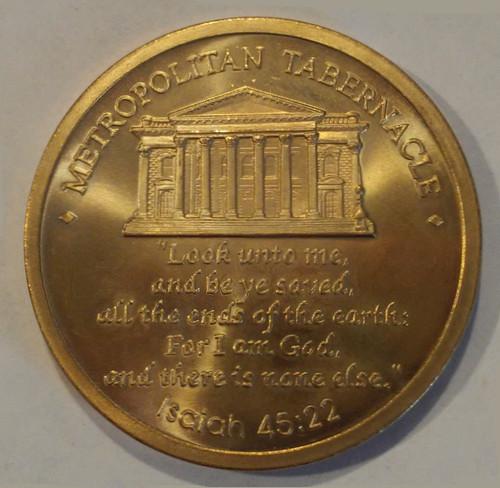 Bronze Spurgeon coin back