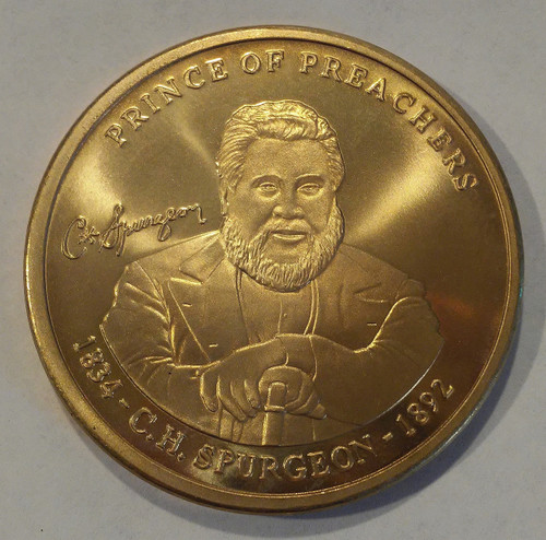 Bronze Spurgeon coin front