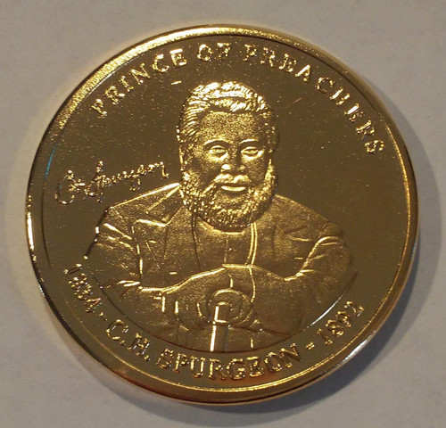 Gold Spurgeon coin - front