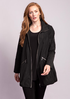 LIV by Habitat Zip up Jacket with Curved Hem in Black