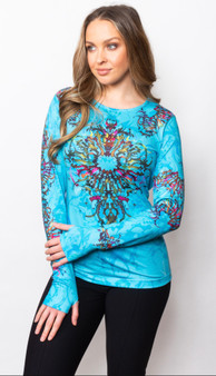Sno Skins Turquoise Print Pullover