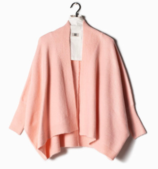 Basic Cape Cardigan in Pink