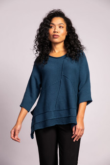 LIV by Habitat Exposed Seam Sweater in Teal