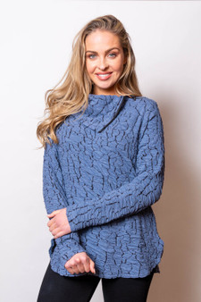 Sno Skins Tunic Blue and Black