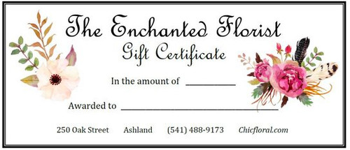 Gift Certificate - Values range from $40-$100