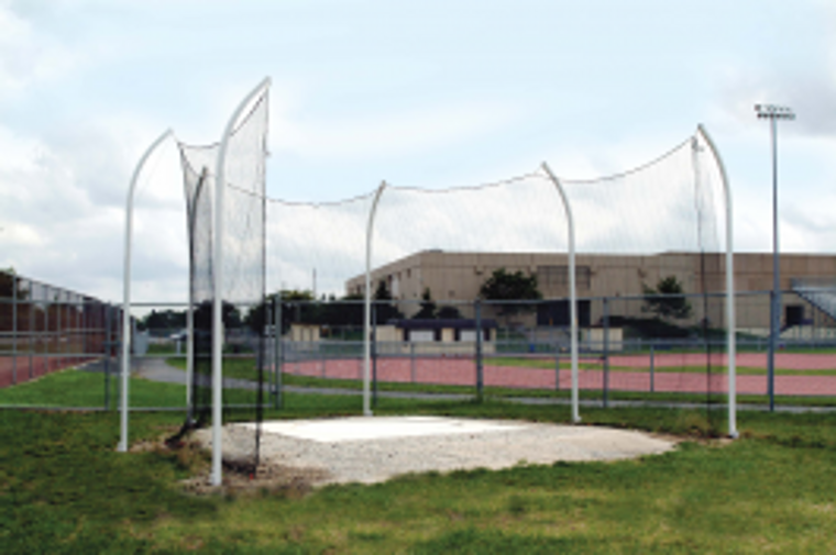 Gill High School Steel Discus Cage 6 Pole