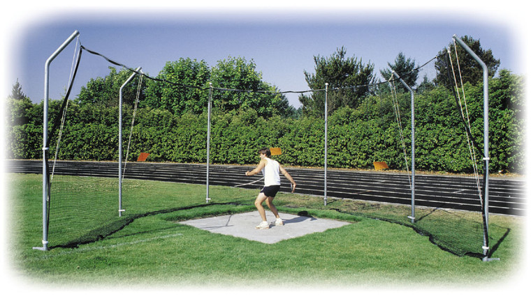 Stackhouse Cantilevered H.S. Steel Discus Cage 6 Pole