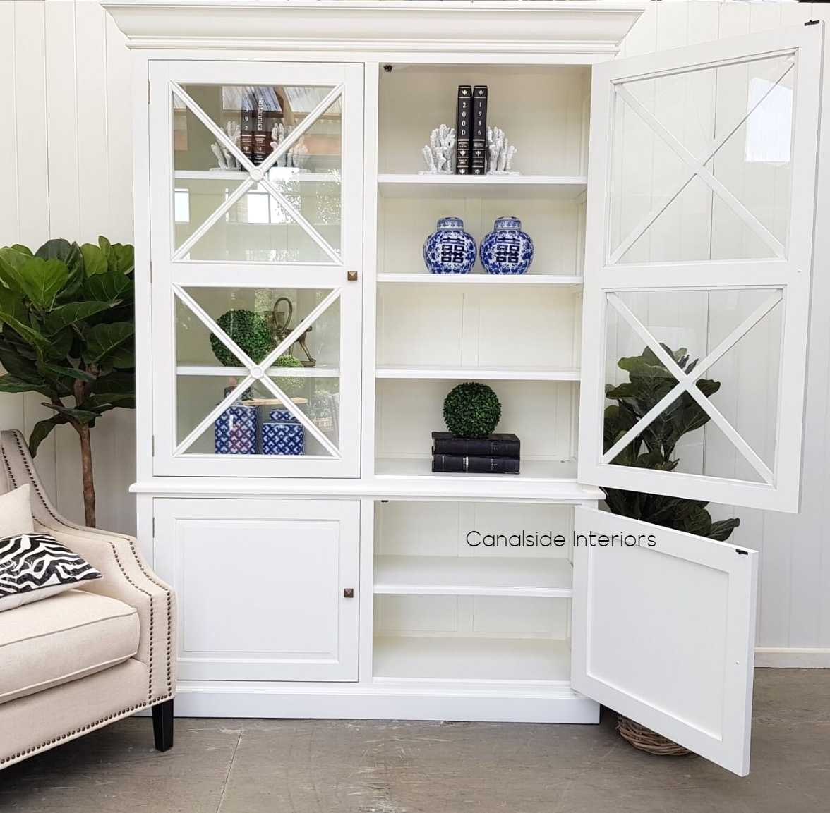 South Hamptons 2 Door Wall Unit White  FRENCH  FURNITURE, HAMPTONS Style, PLANTATION Style, LIVING Room, LIVING Cupboards & Bookcases, STORAGE, STORAGE Bookshelves & Cupboards