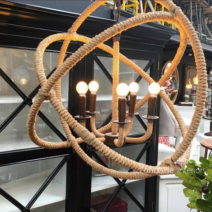 Lannister Rope Orb Chandelier 72cm  LIGHTING, LIGHTING Chandeliers & Pendants