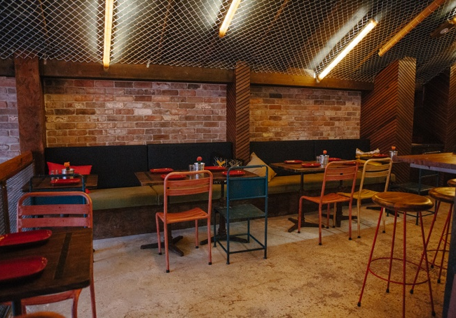 See Canalside Interiors' furniture at Donny's Bar & Restaurant