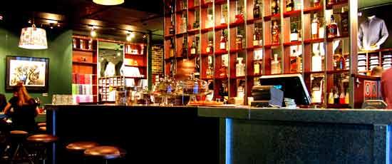 See Canalside Interiors' furniture @ Shirt Bar Image C/: barzine.com.au