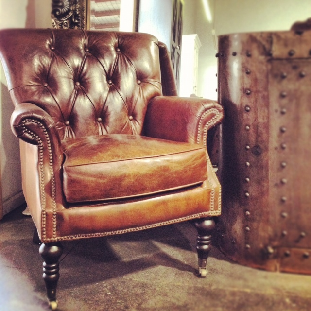Canalside Interiors' Knox Aged Leather Armchair