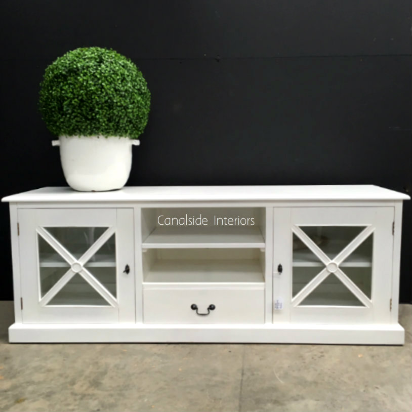 South Hamptons TV Unit White  HAMPTONS Style, PLANTATION Style, LIVING Room, LIVING TV Media & Storage