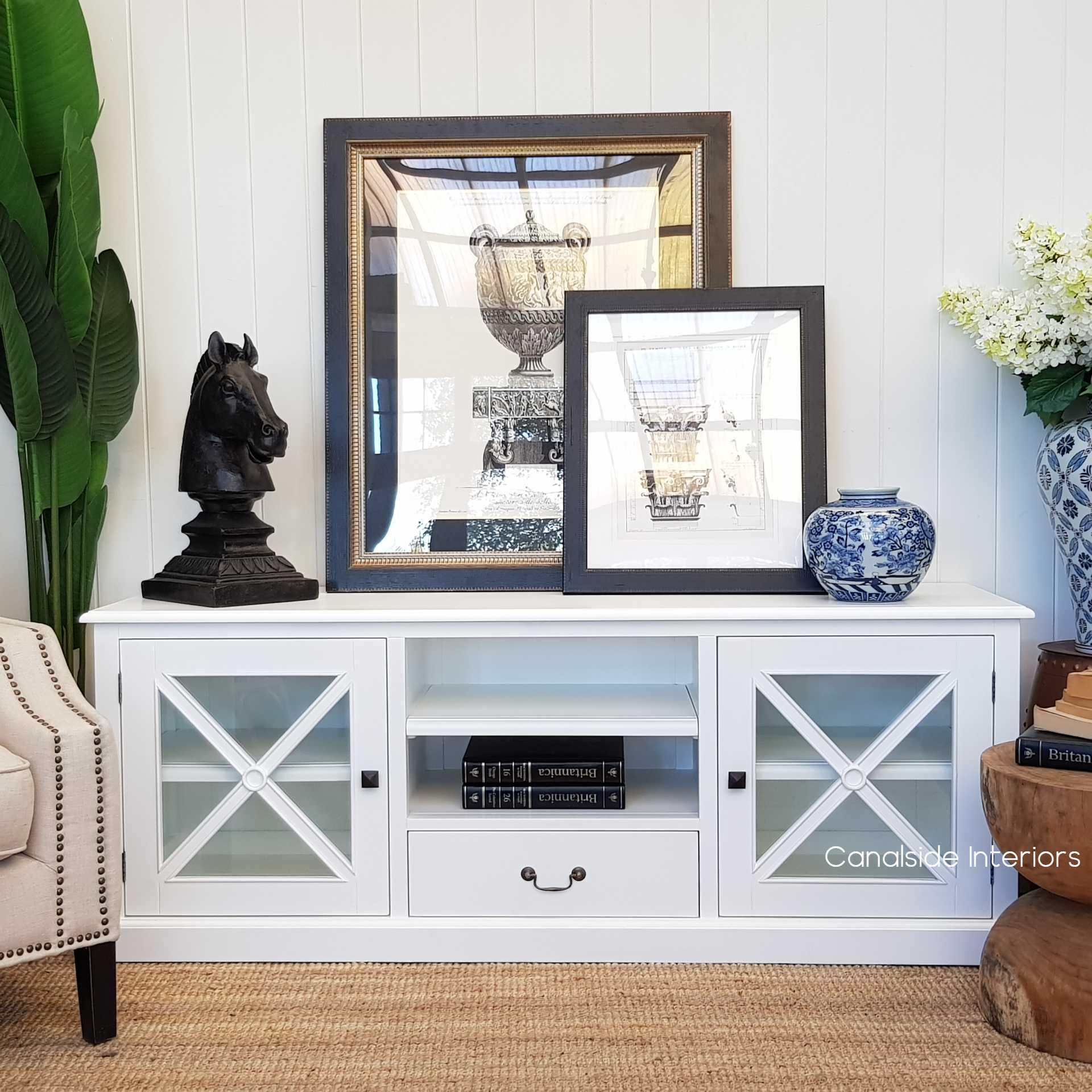 South Hamptons TV Unit White  HAMPTONS Style, PLANTATION Style, LIVING Room, LIVING TV Media & Storage