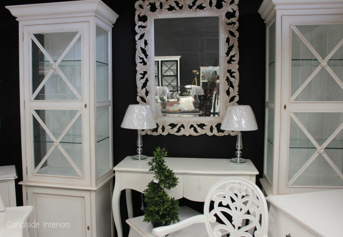 South Hamptons 1 Door Display Unit White  TV, Lounge & Entertainment, Commodes, Chests, Bookcases & Storage, HAMPTONS Style, PLANTATION Style, LIVING Room, LIVING Cupboards & Bookcases, STORAGE, STORAGE Bookshelves & Cupboards