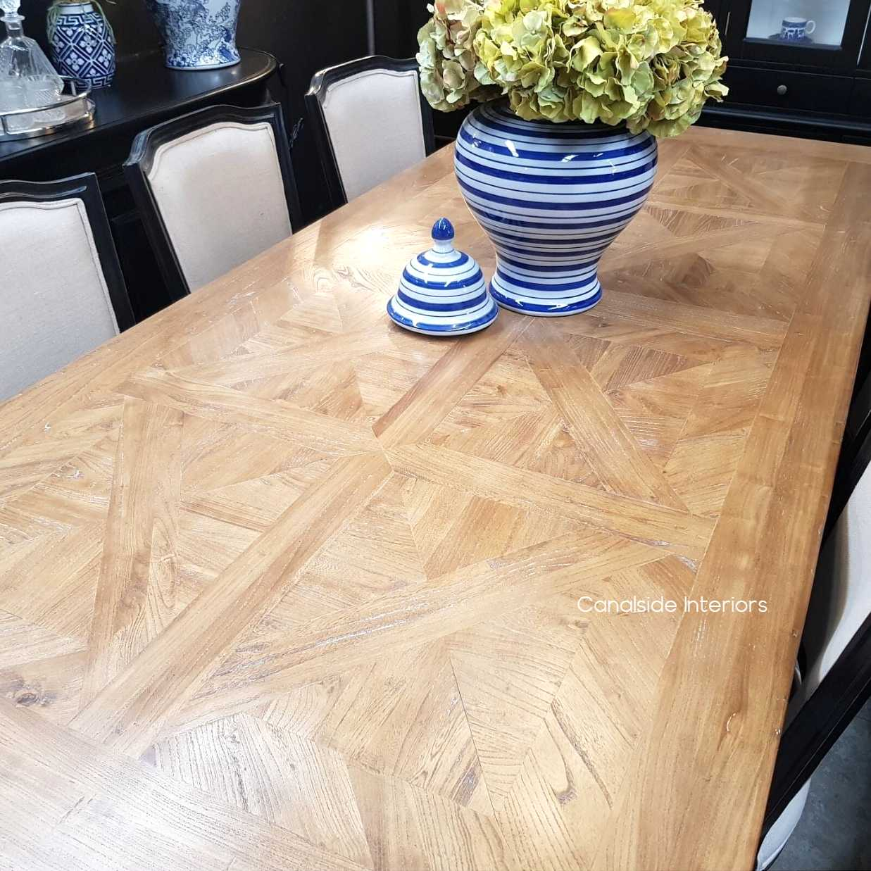 Artisan Parquetry Top Dining Table