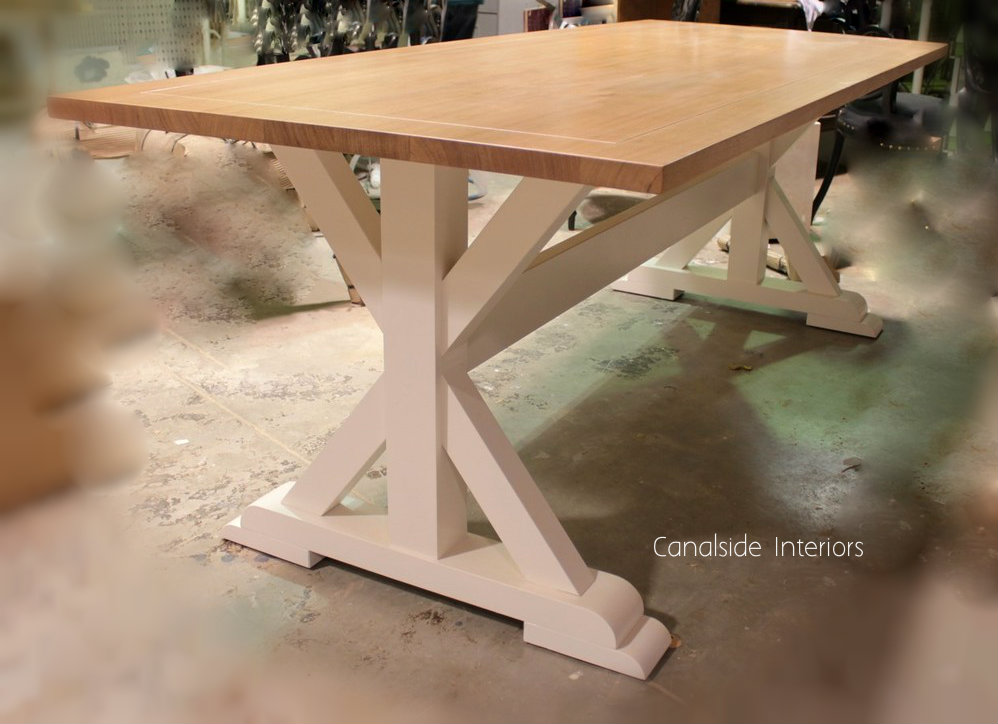X-Base Custom Made Dining Table - Lyon Dining Table - MADE TO YOUR SIZE - Surry Hills Premises