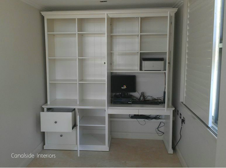 Custom Wall Unit with desk - Stanmore Premises