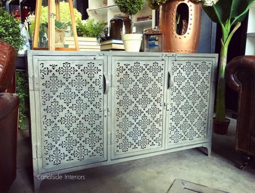 Foundry Industrial 3 Door Sideboard with Perforated Metal