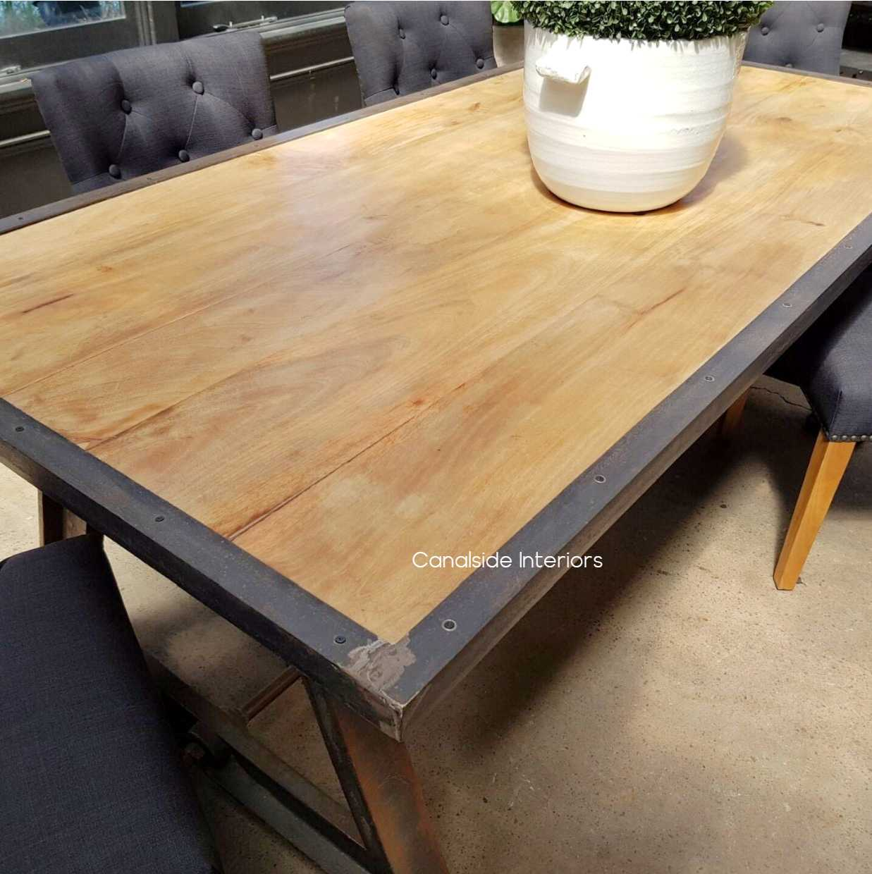 Protractor Omega Industrial Dining Table Canalside Interiors