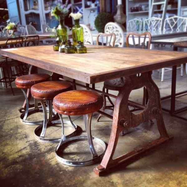 Protractor Alpha Industrial Dining Table