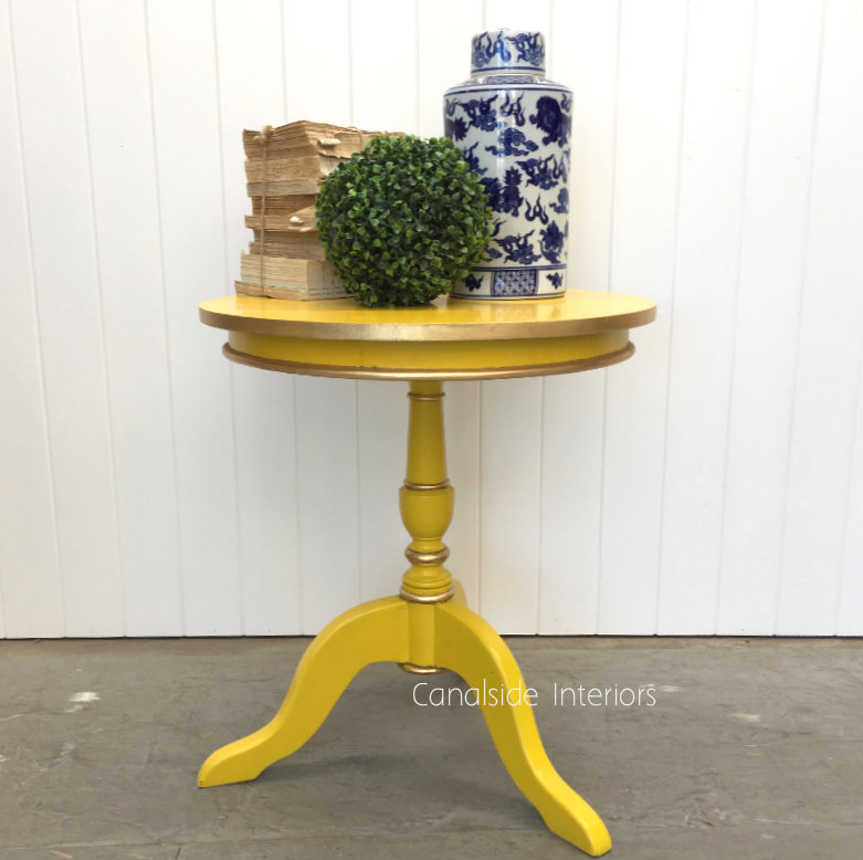 Candy Crushed Side Table Yellow  FRENCH  FURNITURE, TABLES, HAMPTONS Style, PLANTATION Style, TABLES Side Tables, LIVING Room, LIVING Coffee & Side Tables