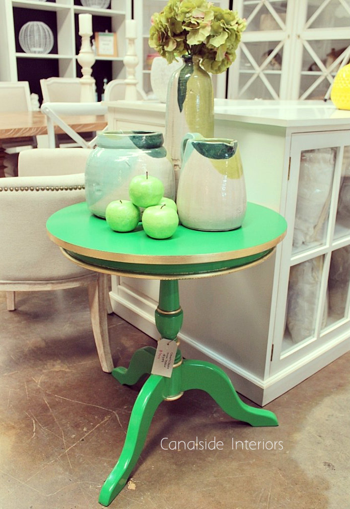 Candy Crushed Side Table Green  FRENCH  FURNITURE, TABLES, HAMPTONS Style, PLANTATION Style, TABLES Side Tables, LIVING Room, LIVING Coffee & Side Tables
