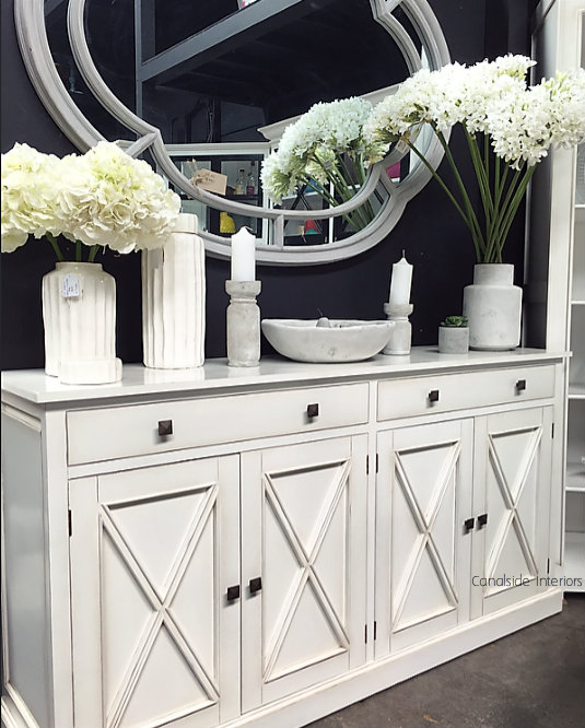 South Hamptons 4 Door Buffet White  HAMPTONS Style, PLANTATION Style, LIVING Room, LIVING TV Media & Storage, TABLES Sideboards & Buffets, STORAGE, STORAGE Sideboards & Buffets