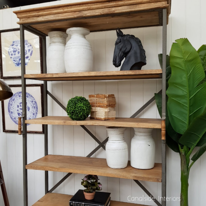 Diaz Rustic Open Bookshelf